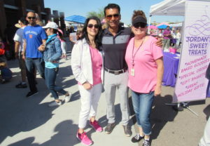 Marketing Director Sandra Surgeon and Dr. Puneet Bhalla Survivors Celebration Ironwood Cancer and Research Centers
