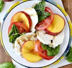 Peach and Basil Salad
