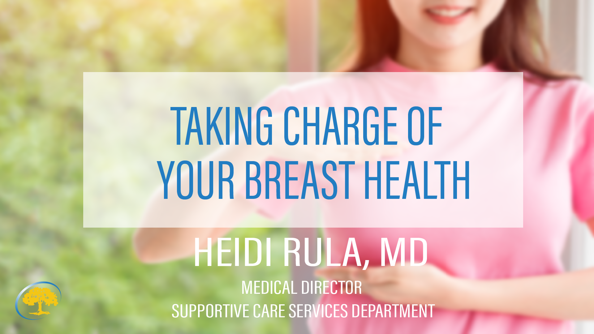 Taking Charge of Your Breast Health