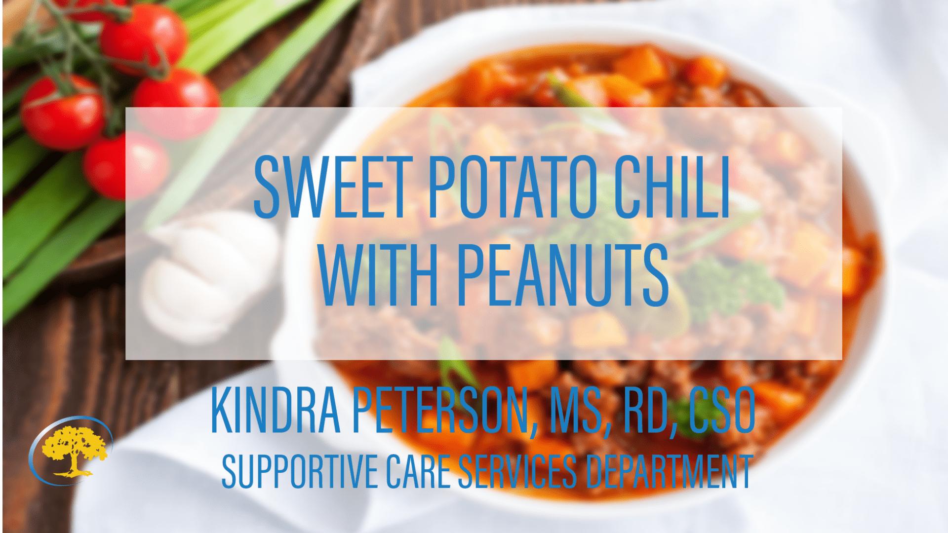 Sweet Potato Chili with Peanuts
