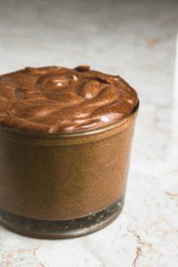 Vegan Dark Chocolate Pomegranate Mousse